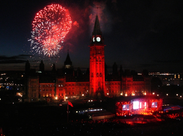 Canada Day at Parliment Hill, Ottawa, Ontario