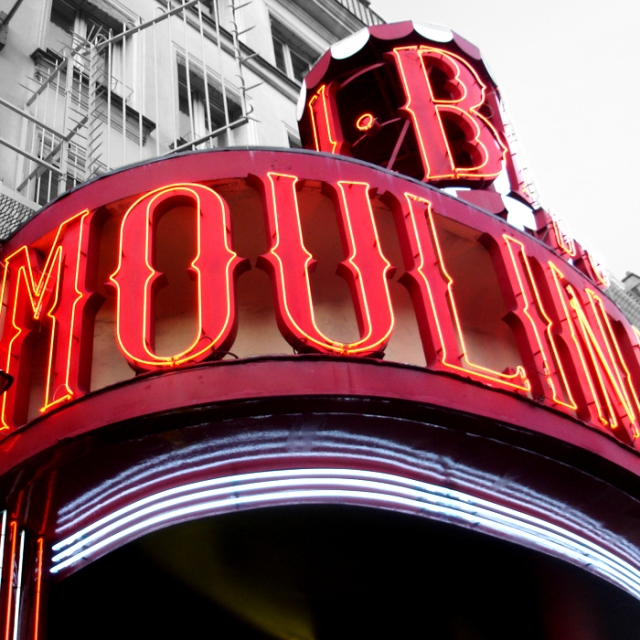 The Moulin Rouge, Paris France